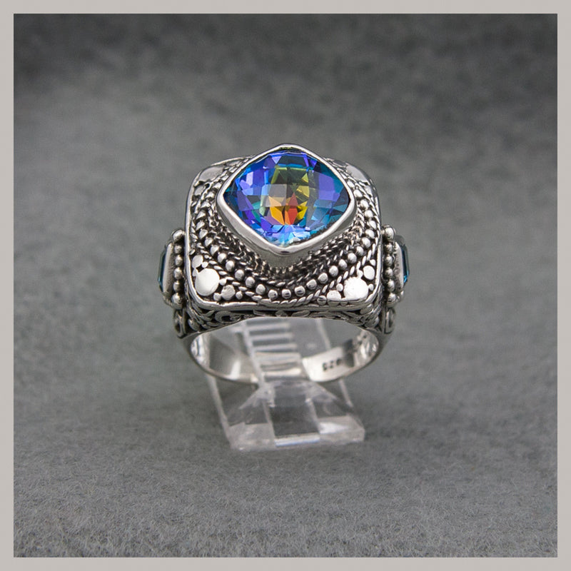 Fancy Blue Quartz Ring