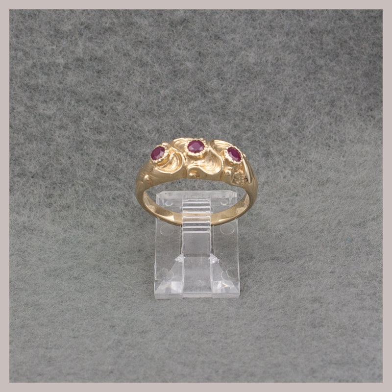Wave Design Ruby Ring