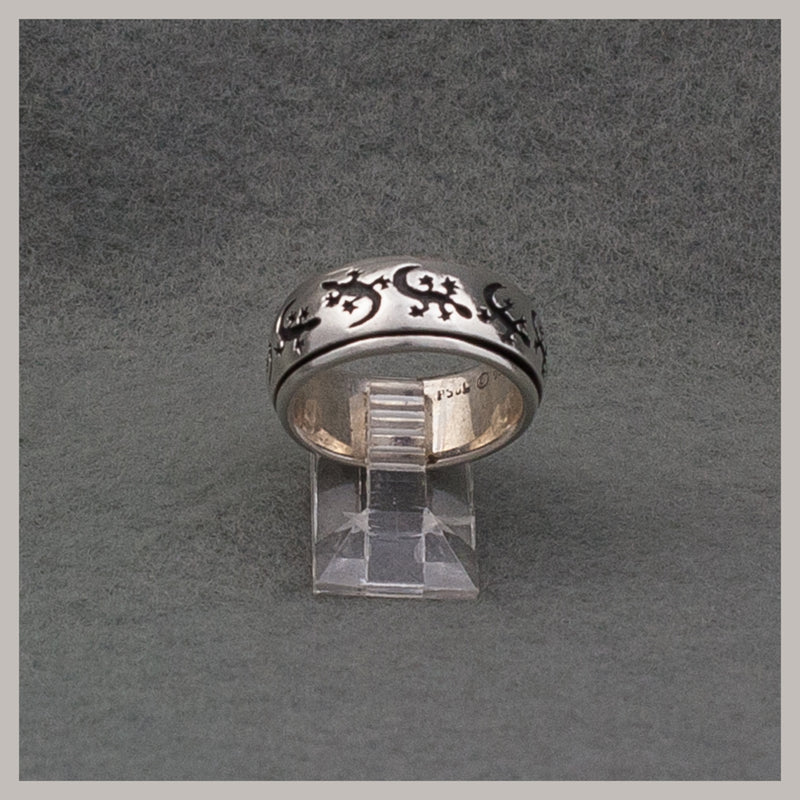 Lizard Spinner Ring