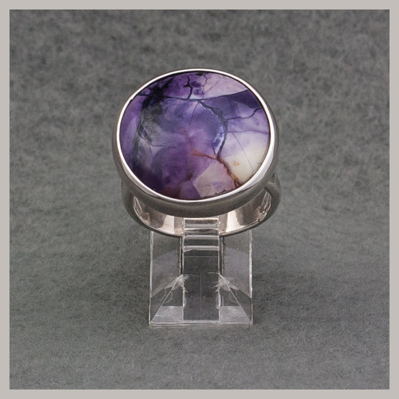 Round Tiffany Stone Ring