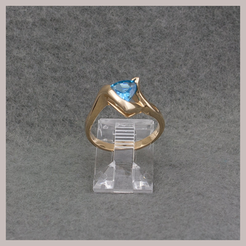 Trillion Cut Topaz Ring