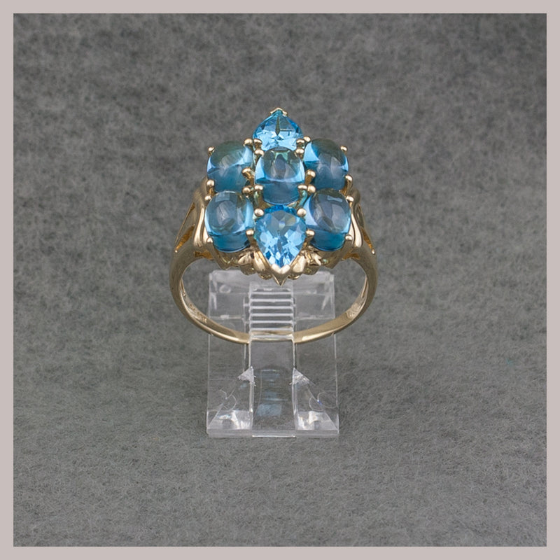Topaz Cabochon Gold Ring