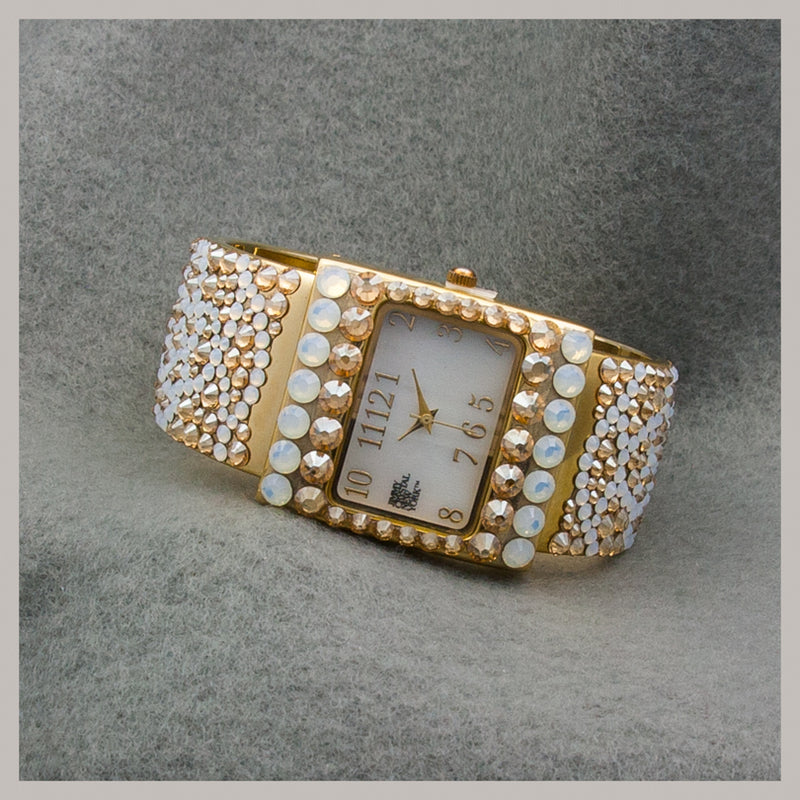 Swarovski Crystal Gold-Tone Watch
