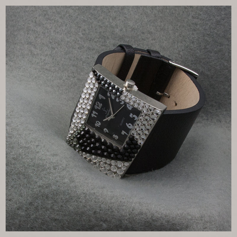 Jimmy Crystal Rectangular Face Watch