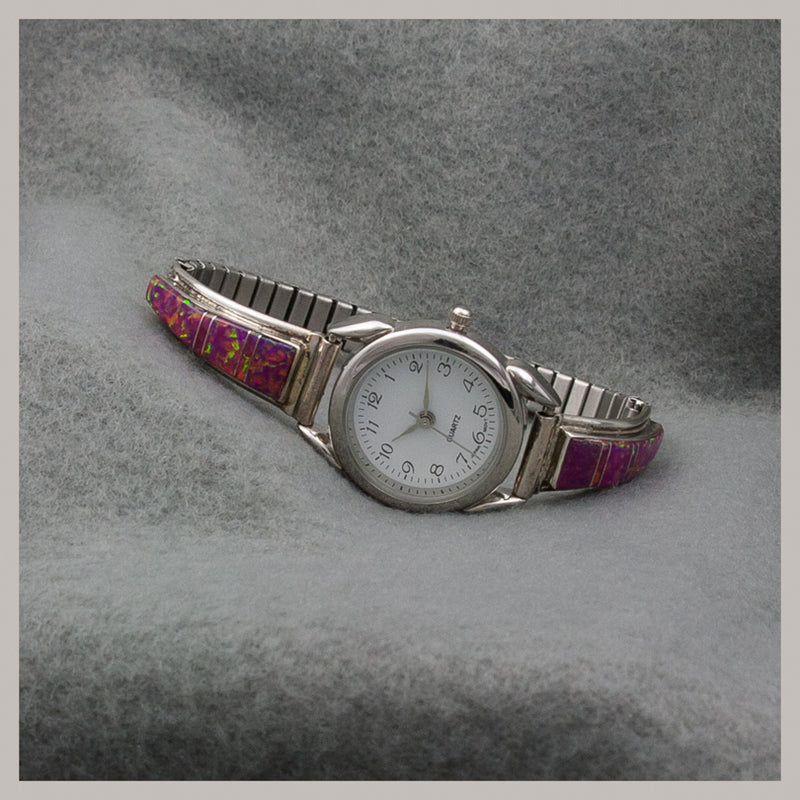 Faux Opal Watch