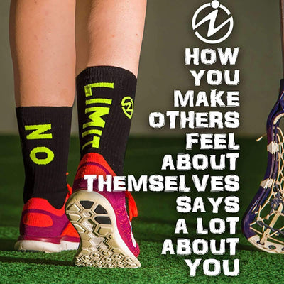 motivational-quote-with-black-yellow-socks-with-words-no-limit-on-socks