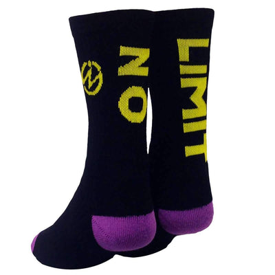 two-crew-socks-with-no-limit-written-on-rear-of-socks
