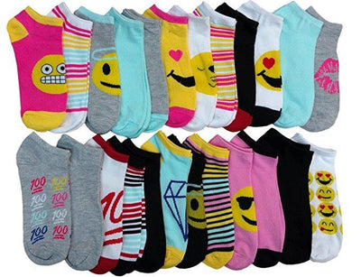 24 Pairs Ankle Socks Women Neon, Women Colorful Socks,Bulk Ankle Socks