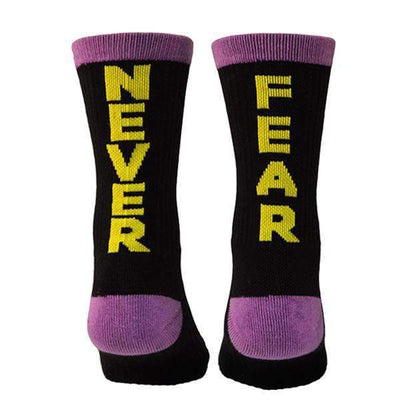Never-fear-purple-yellow-black-crew-socks