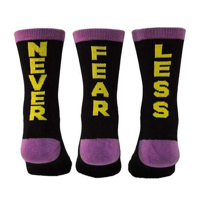 Black-purple-yellow-crew-socks