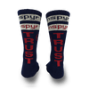 Red-white-blue-tall-cool-max-socks-with-trust-written