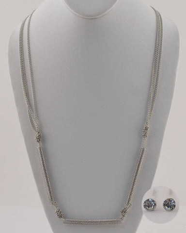 Long Chain Necklace with Spring Detail