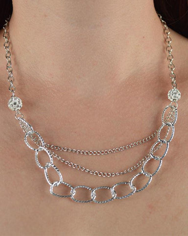 Layered link chain necklace