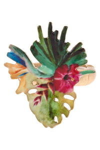 Mix tropical plant stretch ring