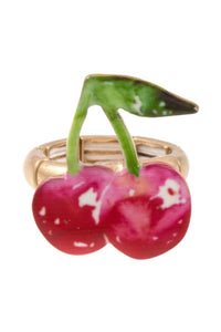 Cherry ring stretch ring