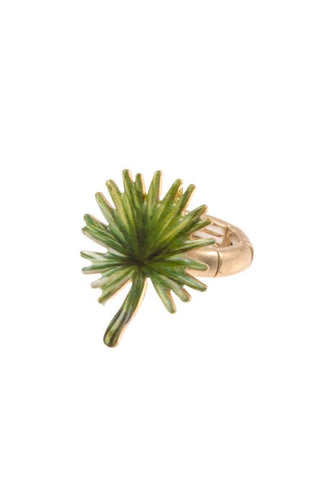 Spike leaf stretch ring