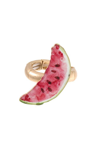 Watermelon slice stretch ring