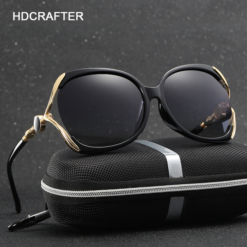 HDCRAFTER  styles Clear Pearl Sunglasses Women Luxury sun glasses Polarized