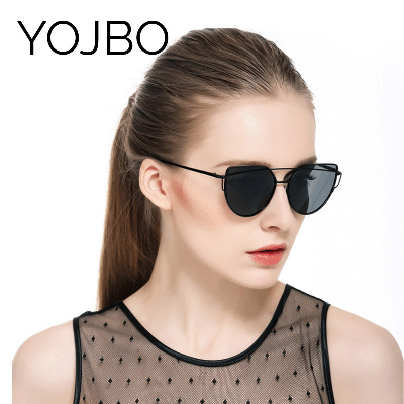 YOJBO 100% UV  Sunglasses Women Polarized Mirror Glasses Brand Designer Retro