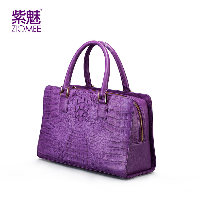 100% handmade women customized crocodile genuine leather handbag