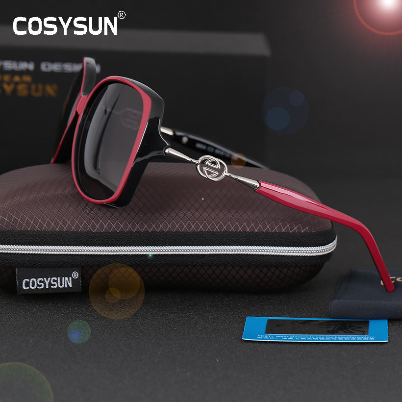 COSYSUN Brand woman sunglasses  Polaroid Luxury Sunglasses