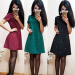 Spring Summer New Style Women Casual Half Sleeve O-neck