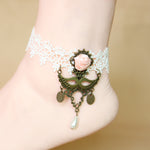12 pcs/lot Vintage White Color Ankle Bracelet Foot Jewelry