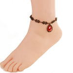 12 pcs/lot Big Infinite Beads Pendant Anklet Foot Chain