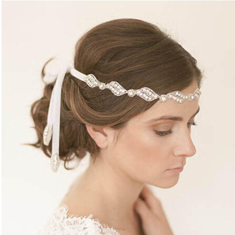 1PCS  pearl bride hair band frontlet bride headdress accessories