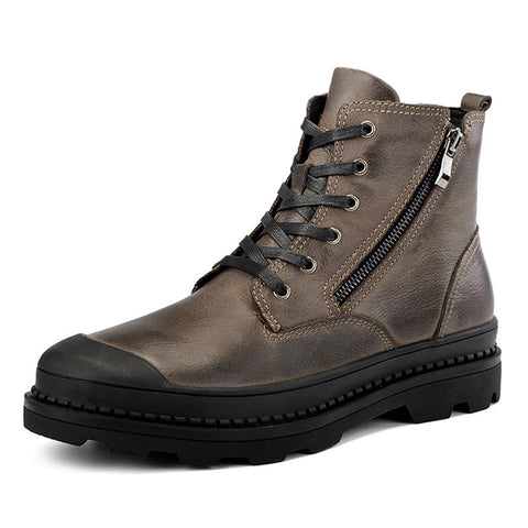 Genuine leather Autumn Men Boot