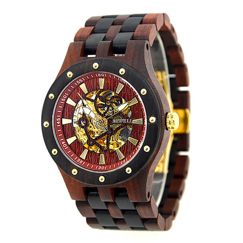 BEWELL Wood Watch Top Luxury Automatic hollow mechanical watch