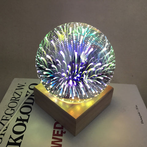 USB power supply 3D colorful crystal night light table lamp