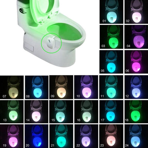Bathroom Nightlight LED Body Motion Activated On/Off Seat Sensor Lamp