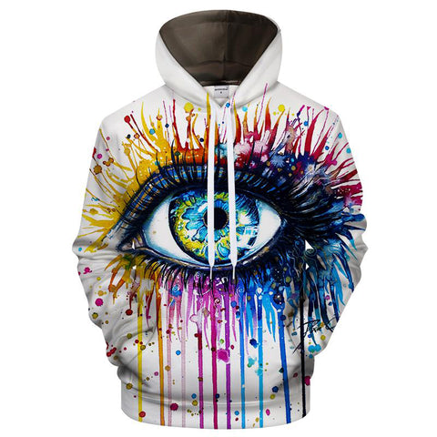 Cold Art Hoodies 3D Colorful Eye Sweatshirt