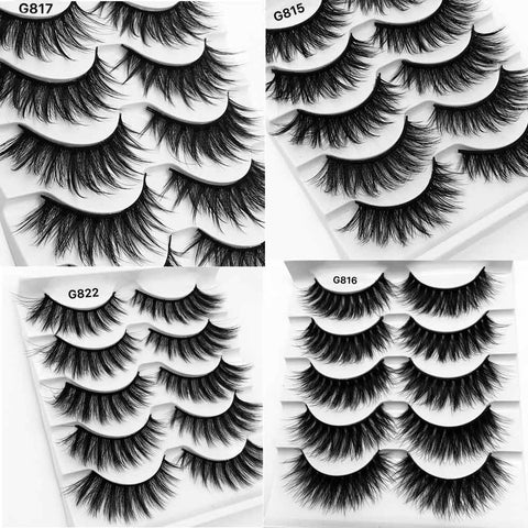5Pairs 3D Mink False Natural Eyelashes