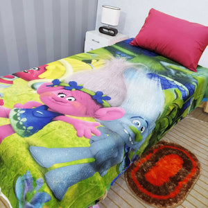 Trolls 2 Bed Sheet With One Pillow Case