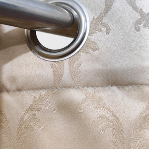 Self Embossed Shanghai Curtain Off-White