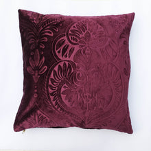 Self Embossed Purple Velvet Cushion Covers