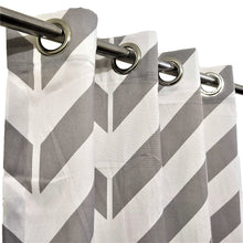 Grey Zig Zag - Duck Cotton Curtain
