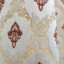 Last 1 Left Extra Discount Thick Jacquard Curtain Golden & Red