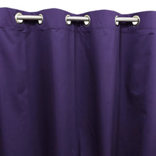 Plain Purple Blue Denim Cotton Curtain