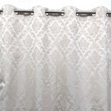 Self Embossed Shanghai Curtain White