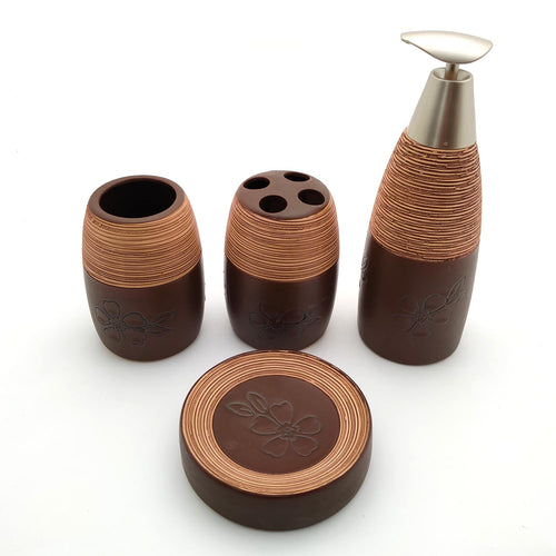 Woody Threads Ceramic Bath set