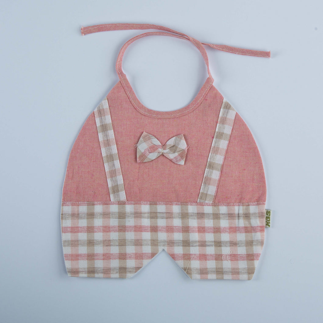 Cotton Bib With Check Design