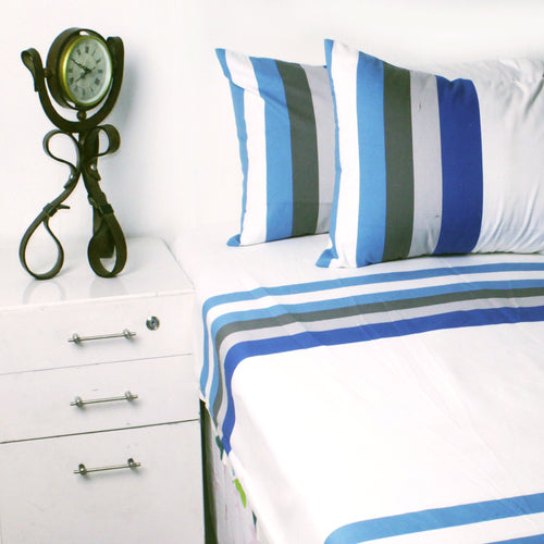 Percale Bed Sheet With Two Pillow Cases