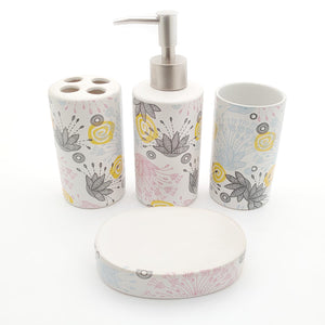 Decent Artistic Ceramic Bath set