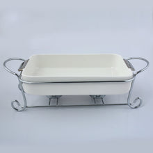 Candle Heated Serving Dish with Metal Stand