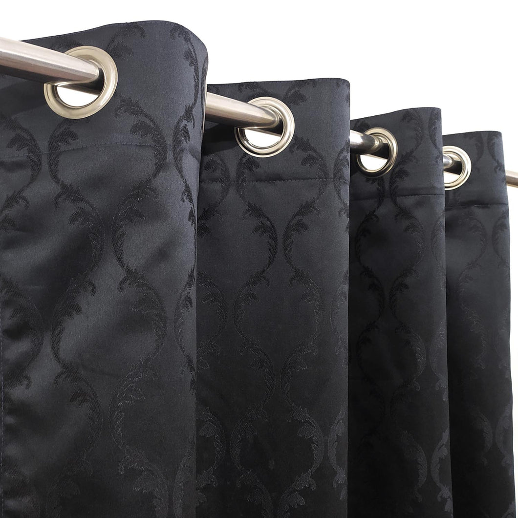 Self Embossed Shanghai Curtain Black