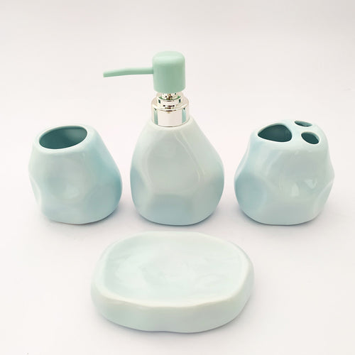 River Stone Sky Blue Big Ceramic Bath set