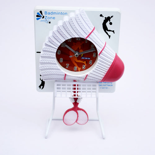 Badminton Table Clock With Stand